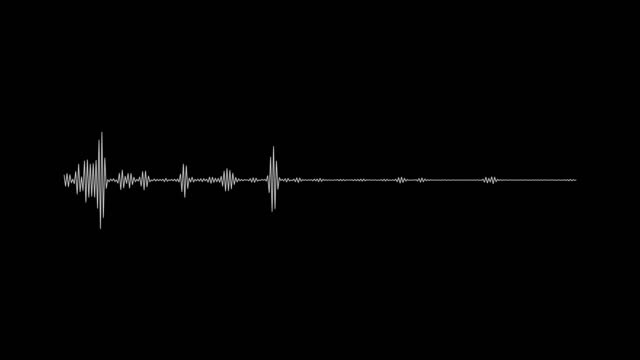 4k simple equalizer white on black background. motion graphic and animation background - voice stock videos & royalty-free footage