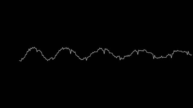 黒の背景に4kシンプルなイコライザー白。モーション グラフィックとアニメーションの背景 - 視覚表示用器材点の映像素材/bロール