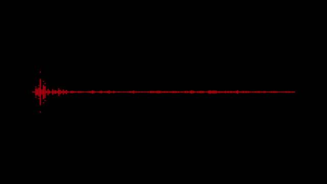 vidéos et rushes de 4k simple égaliseur blanc sur fond noir. fond graphique de mouvement et d'animation. - mixage du son