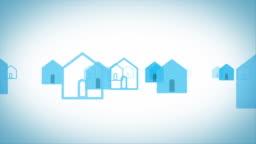 simple house silhouettes[loop]