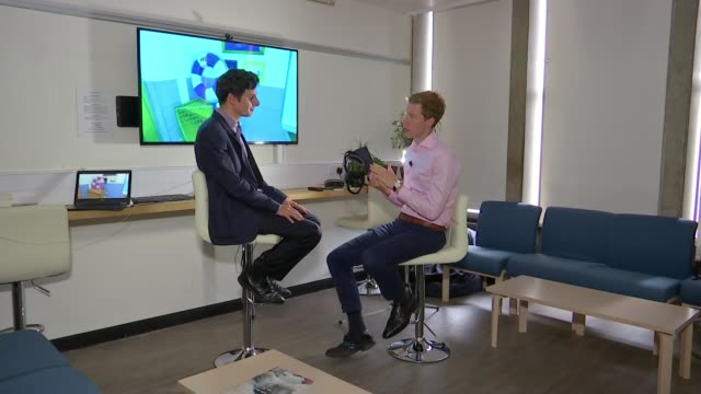 Simple mind game developed by researchers helping to fight against dementia ENGLAND London INT Dr Hugo Spiers interview SOT