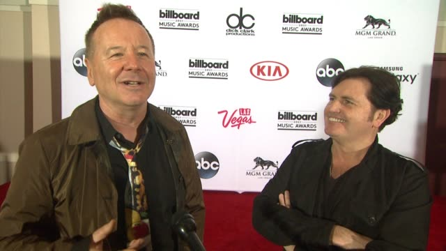 INTERVIEW Simple Minds at MGM Grand on May 15 2015 in Las Vegas Nevada