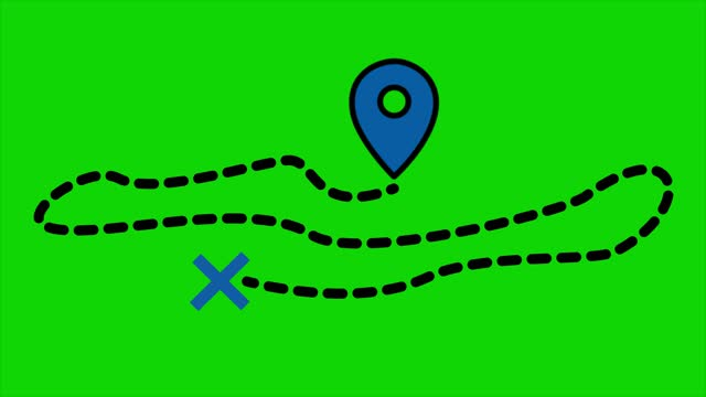 simple style location and pin animation, cut out motion graphic, design element.  the concept of target, direction, map, distance - footpath stock videos & royalty-free footage