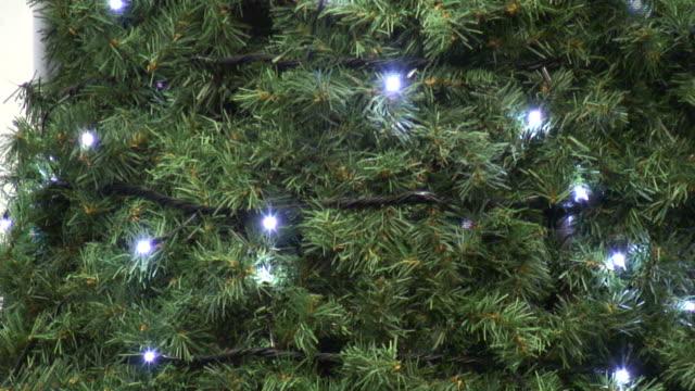 (HD1080i) Simple White Christmas / Holiday Tree lights Flashing