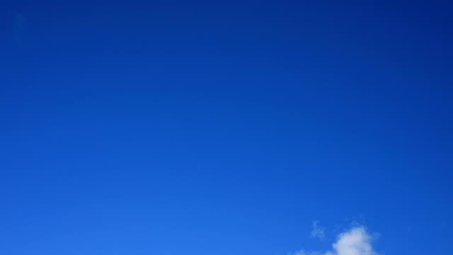 vidéos et rushes de laps de temps simple nuage blanc - ciel seulement