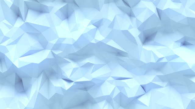 simple white low poly loop background animation. triangular geometric motion pattern. 4k, ultra hd resolution - two dimensional shape stock videos & royalty-free footage