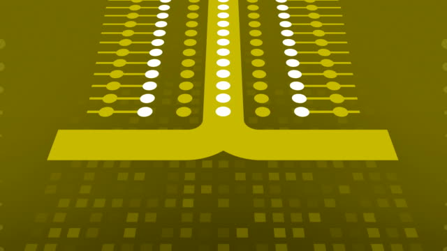 Simple yellow abstraction for Wireless Technology, Science, Social Networking etc.