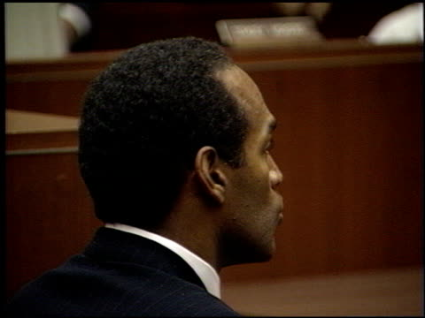 simpson at the oj simpson arraignment at downtown criminal courts in los angeles, california on july 22, 1994. - o.j. simpson stock videos & royalty-free footage