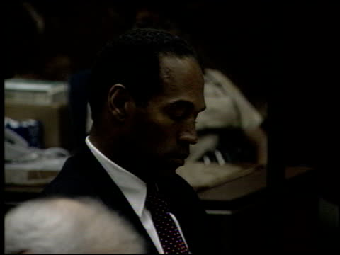 simpson at the oj simpson preliminary hearing at criminal courthouse in los angeles, california on june 30, 1994. - o.j. simpson stock videos & royalty-free footage