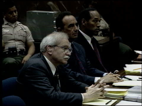 OJ Simpson at the OJ Simpson Preliminary Hearing at Criminal Courthouse in Los Angeles California on June 30 1994