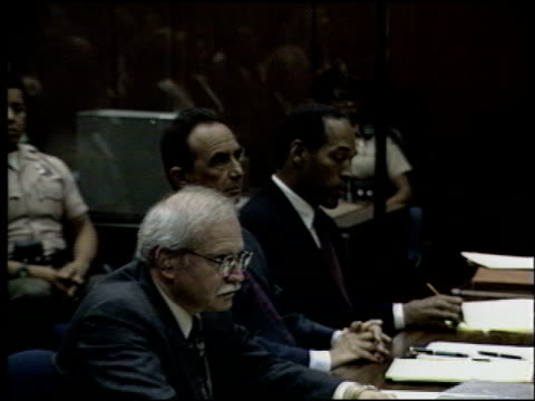 oj simpson at the oj simpson preliminary hearing at criminal courthouse in los angeles california on june 30 1994 - criminal stock videos and b-roll footage