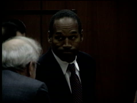 oj simpson at the oj simpson preliminary hearing at criminal courthouse in los angeles california on june 30 1994 - legal trial stock videos & royalty-free footage