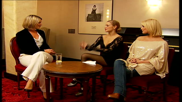 Simpson sisters interview Close shot of bottle of champagne opened by waiter Ashlee Simpson interview SOT first show was great fun Jessica Simpson...