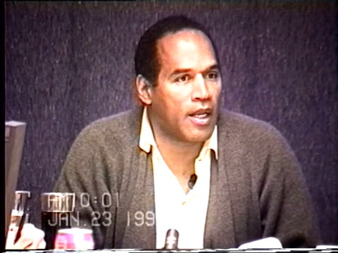 OJ Simpson's civil trial deposition 1000 AM 1/23/96 Questions about Nicole's use of illegal narcotics and the intervention for Faye Resnick