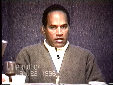 OJ Simpson's civil trial deposition 1004 AM 1/22/96 Questions about OJ's scars and former wounds