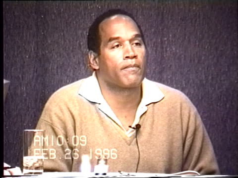 OJ Simpson's civil trial deposition 1008AM 2/26/96 Questions about OJ getting his blood drawn by the LAPD and his comments about being 'squeamish'...