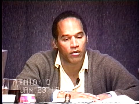 OJ Simpson's civil trial deposition 1009 AM 1/23/96 Questions about the last time OJ spoke with Faye Resnick