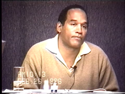 OJ Simpson's civil trial deposition 1013AM 2/26/96 OJ is questioned about lying during his LAPD interview