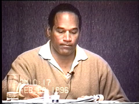 OJ Simpson's civil trial deposition 1014AM 2/26/96 Questions about OJ's previous statements about Paula Barbieri and apparent lies he told about his...