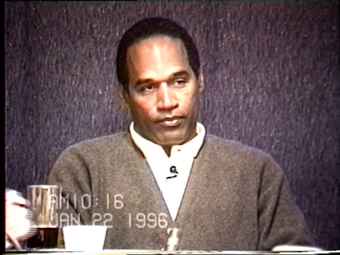 OJ Simpson's civil trial deposition 1015 AM 1/22/96 Questions about OJ being friendly with police