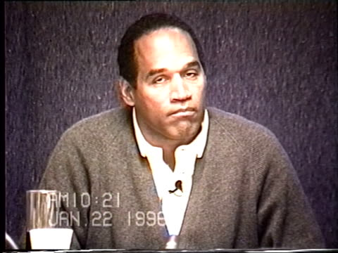 OJ Simpson's civil trial deposition 1020 AM 1/22/96 Questions about OJ being friendly with police