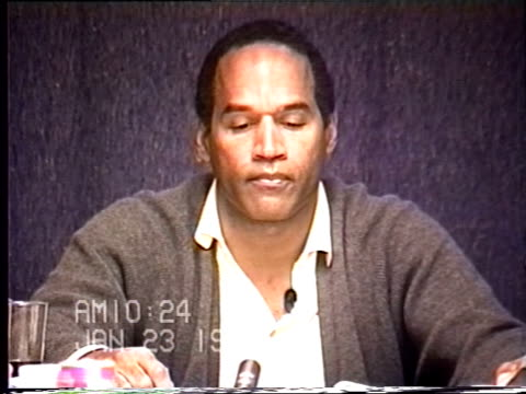 OJ Simpson's civil trial deposition 1023 AM 1/23/96 Questions about the last time OJ was on Nicole's property