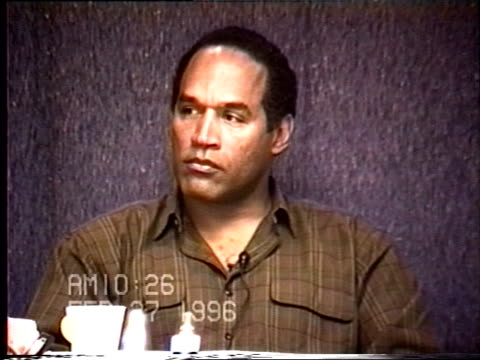 OJ Simpson's civil trial deposition 1025AM 2/27/96 Questions about the Bruno Maglis shoes and the size 12 shoe prints found at the crime scene