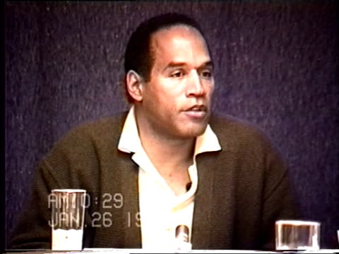 OJ Simpson's civil trial deposition 1027AM 1/26/96 Questions about the types of gloves OJ owned and it he had gloves similar to the murder gloves