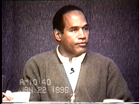 OJ Simpson's civil trial deposition 1039 AM 1/22/96 Questions about OJ's children staying at Kardashian's house after the murder