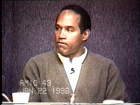 OJ Simpson's civil trial deposition 1042 AM 1/22/96 Questions about OJ and AC and where they went in Bronco