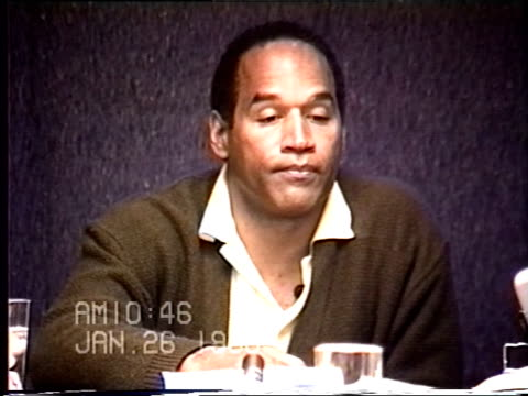 OJ Simpson's civil trial deposition 1045AM 1/26/96 Questions about the types of gloves OJ owned and it he had gloves similar to the murder gloves