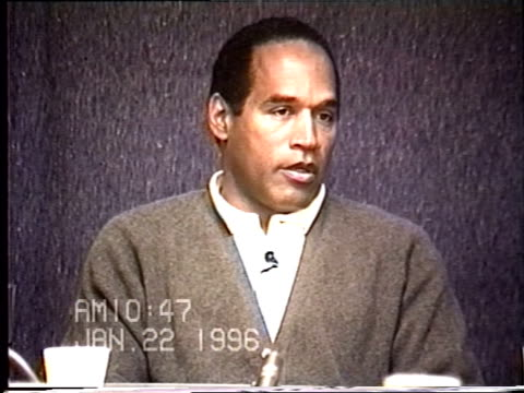 OJ Simpson's civil trial deposition 1046 AM 1/22/96 Questions about OJ and AC and where they went in Bronco