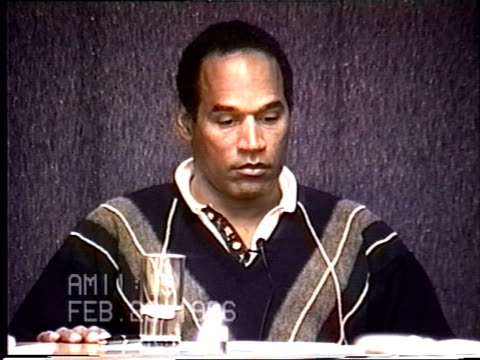 OJ Simpson's civil trial deposition 1118AM 2/23/96 Questions about a 911 call Nicole made during 1993 incident