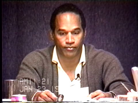 OJ Simpson's civil trial deposition 1119 AM 1/23/96 OJ questioned about and identifying clothing from photos