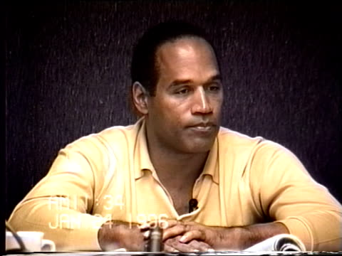 OJ Simpson's civil trial deposition 1132 1/24/96 OJ describes noticing blood on his kitchen counter when looking for a flashlight with Kato