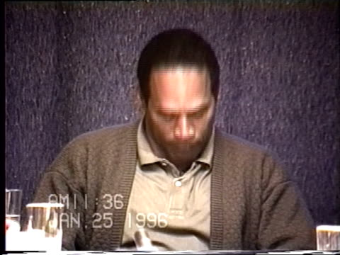 OJ Simpson's civil trial deposition 1135AM 1/25/96 Questions concerning the 1989 domestic violence incident with Nicole