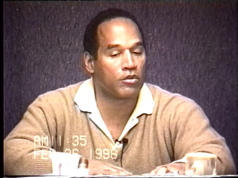 OJ Simpson's civil trial deposition 1135AM 2/26/96 Questions about OJ hiring Robert Shapiro as his lawyer