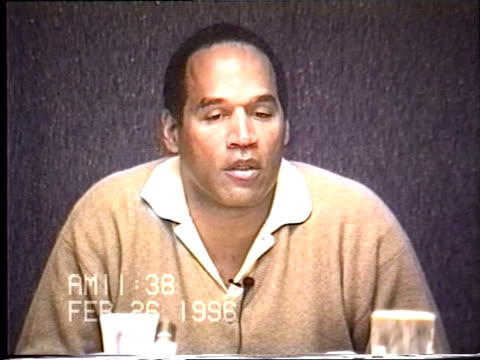 OJ Simpson's civil trial deposition 1136AM 2/26/96 Questions about OJ's behavior on the plane to Chicago on the night of the murders