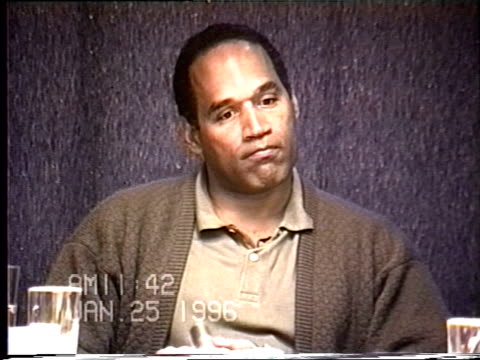 OJ Simpson's civil trial deposition 1141AM 1/25/96 Questions concerning the 1989 domestic violence incident with Nicole