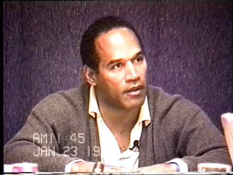 OJ Simpson's civil trial deposition 1144 AM 1/23/96 Questions on how OJ cut himself in Chicago and step by step through the whole morning