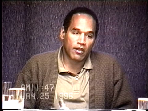 OJ Simpson's civil trial deposition 1146AM 1/25/96 Questions about Nicole lying about abuse