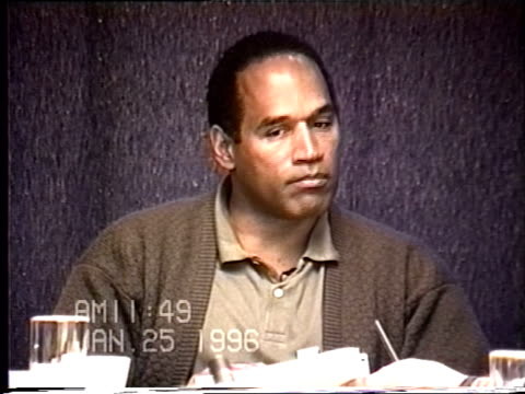 OJ Simpson's civil trial deposition 1149AM 1/25/96 Questions about OJ's assertions that a photo of Nicole looking abused was a product of makeup
