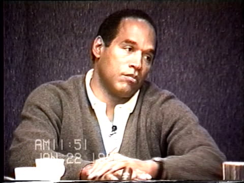 oj simpson's civil trial deposition 1150 am 1/22/96 questions about bringing the black bag to robert kardashian's house - bag stock videos & royalty-free footage
