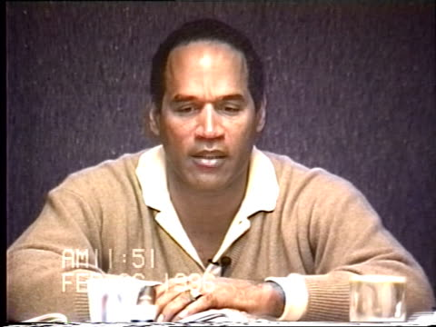 OJ Simpson's civil trial deposition 1150AM 2/26/96 Questions about OJ's timeline after arriving in Chicago on the night of the murders