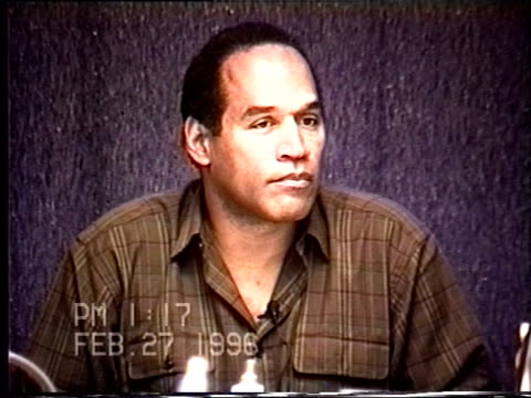 OJ Simpson's civil trial deposition 117PM 2/27/96 Questions about OJ's phone calls with Judy Brown