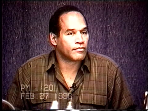 OJ Simpson's civil trial deposition 119PM 2/27/96 Questions about OJ's calls to Faye Resnick and Cora Fischman about Nicole
