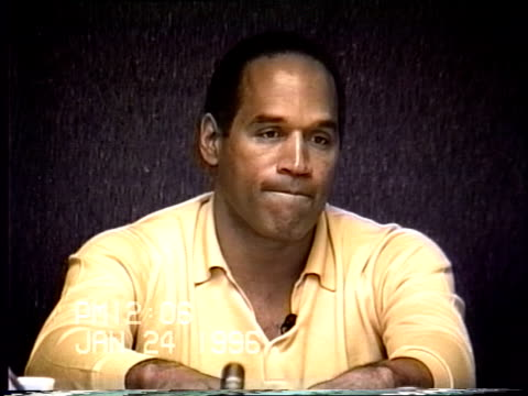 OJ Simpson's civil trial deposition 1206 PM 1/24/96 Questions about OJ waking up on the morning of the murders