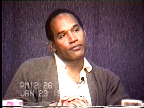 OJ Simpson's civil trial deposition 1225 PM 1/23/96 Questions about OJ packing his golf bag and Louis Vuitton bag
