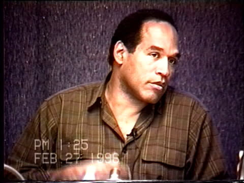 OJ Simpson's civil trial deposition 123PM 2/27/96 Questions about OJ's calls to Faye Resnick and Cora Fischman about Nicole
