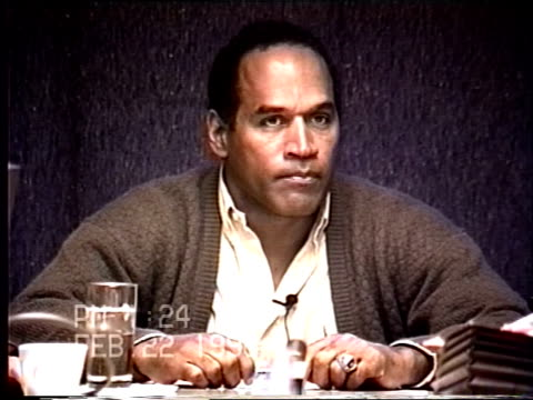 OJ Simpson's civil trial deposition 124PM 2/22/96 OJ discusses the incident at Toscana and a man named Alessandro